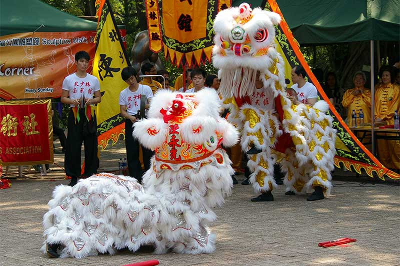 Dragon Dancing in Mid- Autumn Festival in Vietnam