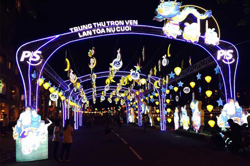 Mid Autumn Festival in HCM city, Vietnam