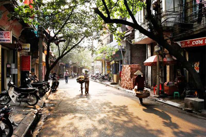 Hanoi Old Quarter in Vietnam Lunar New Year